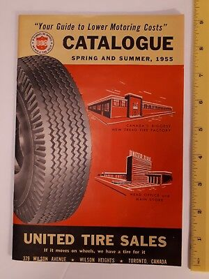 """Rare (Toronto)""""1955 Spring & Summer United Tire Sales"""" Catalogue- Mint Condition"""