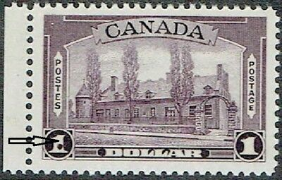 Canada.1938 $1.pictorial With Ink Dot.flaw On Lhs $1. Mnh As Is See Scan