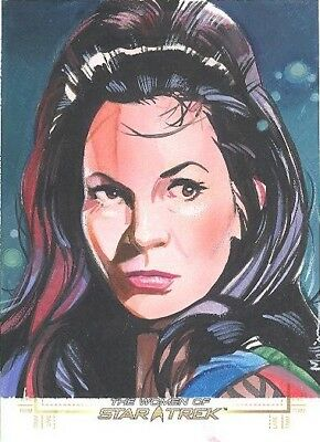 Women Of Star Trek 50th Anniversary Jeff Mallinson Sketch Card Marlena Moreau
