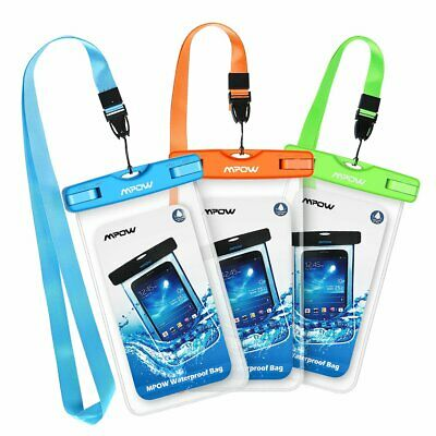 2X Mpow Waterproof Phone Case Pouch Dry Bag for iPhone X XR Samsung Galaxy