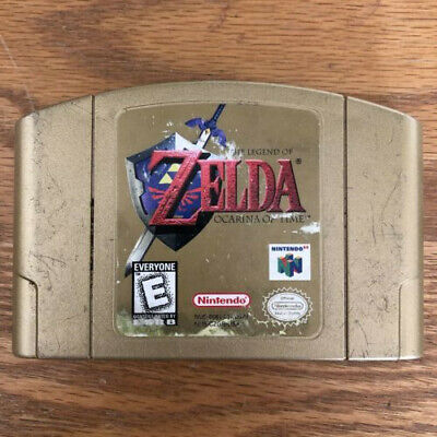 The Legend of Zelda: Ocarina of Time Gold Collectors Edition, Cleaned & Tested!!