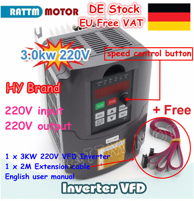 3KW 4HP 220V VFD Variable Frequency Drive Frequenzumrichter Inverter CNC Router