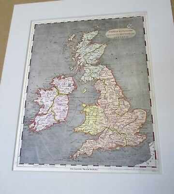 United Kingdom. map.1804