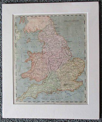 England. Wales. 1804. Map