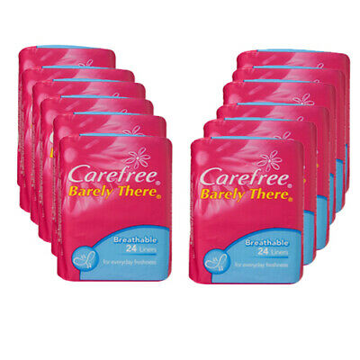 NEW Set of 12 Carefree Barely There Liners 24 Pack