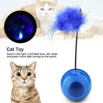 Pet Kitten Cat Cute Feather False Ball Funny Interactive Training Play Toy Ball