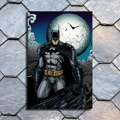 "12""x18""Batman and the moon HD Canvas prints Painting Home decor Room Wall art"