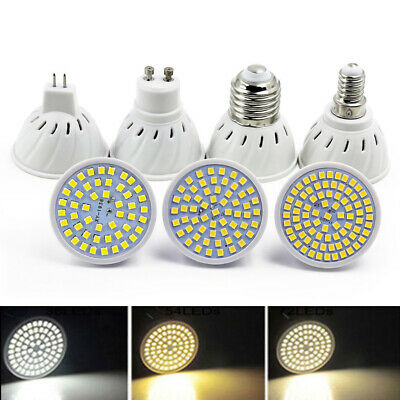 LED Spotlight 2835 SMD Bulb 4W 5W 6W GU10/MR16/E26/E27 Lamp Bright AC 110V 220V