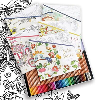 Kaisercraft KaiserColour Colouring Bundle 5 Books and 48 Pack of Pencils