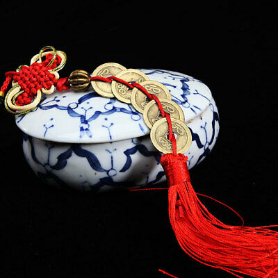 Wealth Chinese Knot Feng Shui Lucky Copper Coin Ropes Home Car  Hanging Decor