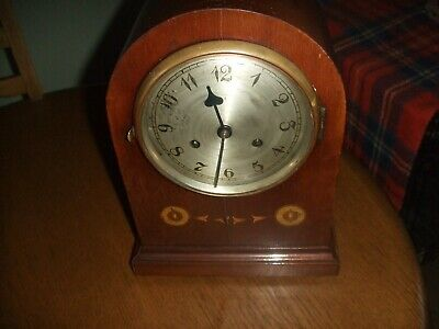 Antique Inlaid Wooden Mantel Clock with Tameside Movement??