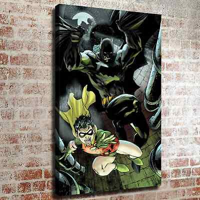 """12""""x18""""Batman and Robin HD Canvas print Painting Home decor Room Wall art Pictur"""