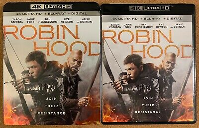 Robin Hood 2019 4K Ultra Hd Blu Ray 2 Disc Set + Slipcover Sleeve Free Shipping