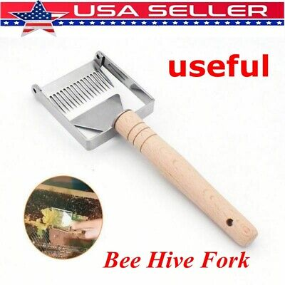 US Stainless Steel Bee Hive Fork Scraper Uncapping Honey Shovel Beekeeping Tool