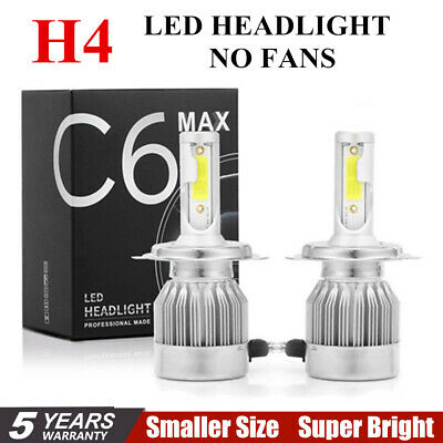 2pcs C6 COB H4 22500LM 150W LED Car Headlight Kit Hi/Lo Turbo Light Bulbs 6000K@