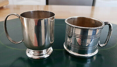 2x Christening Cups, 1 Hecworth and 1 unknown maker.