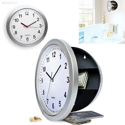 3AA1 Safe Wall Clock Hidden Container Store Box For Money Stash Jewelry Storage