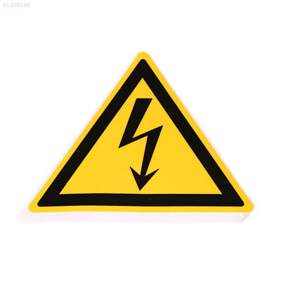 CB54 78x78mm Electrical Shock Hazard Warning Stickers Security Labels Adhesive