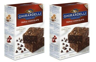 Ghirardelli Triple Chocolate Brownie Cake Mix, 3 x Packs of 4 Batches