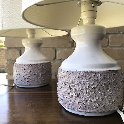 Nice clean pair of mid-century vintage lamps Danish Parker Eames Coffee Table