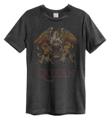 Queen 'Royal Crest' (Charcoal) T-Shirt - Amplified Clothing - NEW & OFFICIAL!