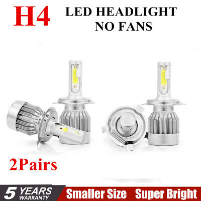 2Pair H4 C6 10800LM 120W LED Car Headlight Kit Hi/Lo Turbo Light Bulbs 6000K US+