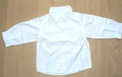C&A BABY CLUB chemise blanche manches longues garcon 18 mois (86) Impecable