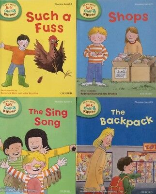 OXFORD READING Biff, Chip and Kipper - Level 3 - Phonics Collection 4 books NEW