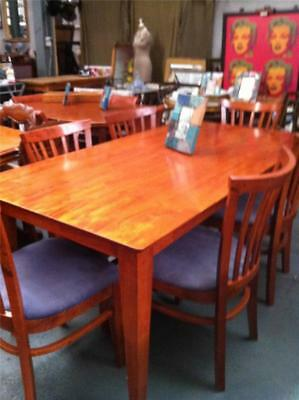 Farmhouse Style Solid Timber Dining Table From The Shaker Range Eco2000
