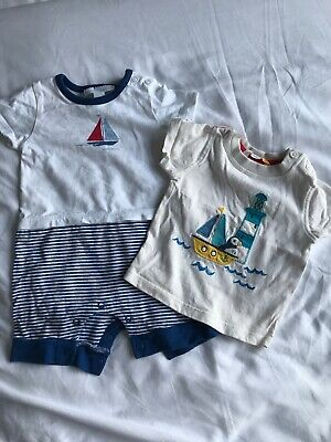 4d97a03e4 John Lewis & The Little White Company 0-3 Months Tshirt & Babygrow Baby Boy