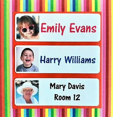 Photo name labels/ iron on name tags in full colour