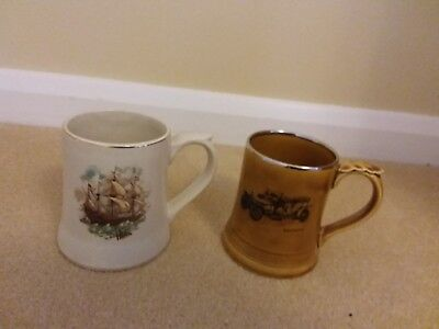 Wade Tankards - Rolls Royce Silver ghost and Galleon