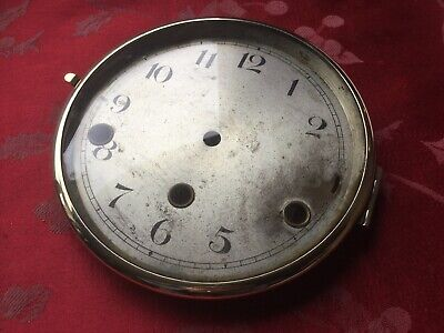 Brass  Bezel And Convex Glass Dial   From  An Antique Mantel Clock 3 Hole Clock
