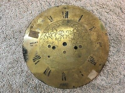 VIntage Clock Face Dial Brass  12 1/4""