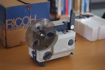 Ricoh 850-P Film Projector, 8mm, Made in Japan, Modernist, Rare, In Original Box