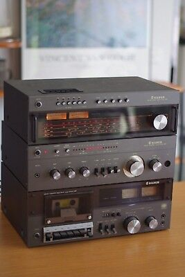 Silver highend Stereo System - Amplifier/Tuner/Cassette, Made in Japan Rare