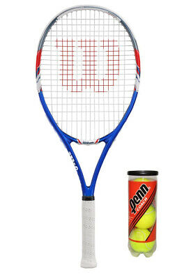 Wilson US Open 27 Adult Tennis Racket + 3 Tennis Balls RRP £70
