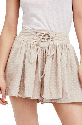 Free People Womens Meet Your Match OB763394 Short Tea Combo Beige Size S