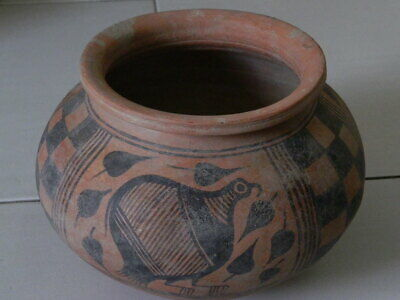 Ancient Huge Size Teracotta Painted Pot With Birds Indus Valley 2500 BC #Ik507