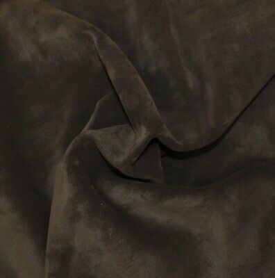Cowhide Suede Leather Deep Green 8 Sq Ft 1.6-1.8 mm Thick Soft Feel Waxy