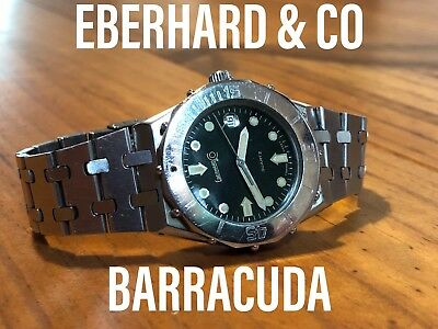 Vintage Diver Watch/montre De Plongée Ancienne: Eberhard&co Barracuda
