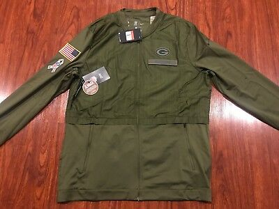 c5108a971 Nike Men's Green Bay Packers Salute To Service Hybrid Jacket Large L NFL
