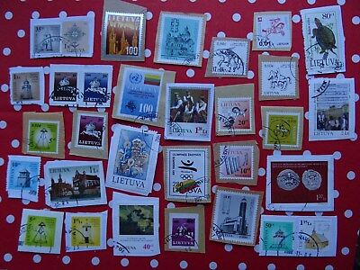 stamps of Lithuania Lituanie - RARE used on paper + MNH 2008 WWF Birds minisheet