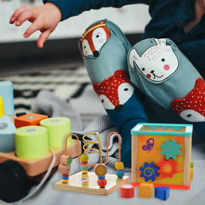 Children Kids Baby Colorful Wooden Mini Around Beads Educational Toy GIFT