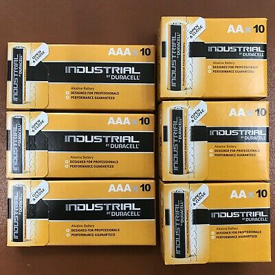 Duracell 30 AAA and 30 AA Industrial Battery 60 Procel Batteries Longest Expiry