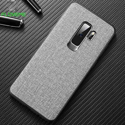 For Samsung Galaxy S10 Plus Soft Plush Cloth Fabric Thin Phone Case Back Cover