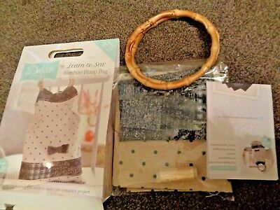 DEBBIE SHORE LEARN to Sew Bamboo Hoop Bag Kit by Crafter's Companion ~ New