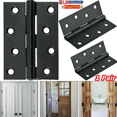 "Pair Of Door Hinge Ball Bearing Butt Hinges Steel Fire Rated 4""/100mm Soft Close"