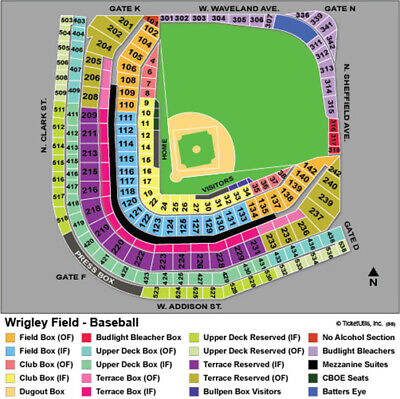 4 Cubs Tickets AISLE SEATS Wrigley Field 5/22/19 vs PHI Phillies FREE Delivery