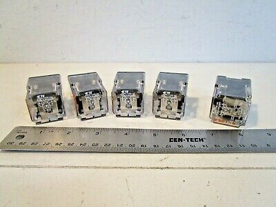 Potter & Brumfield KRPA-11DG-125 Ice Cube Relays, 8 pin, 120/240 volt, Lot of 5